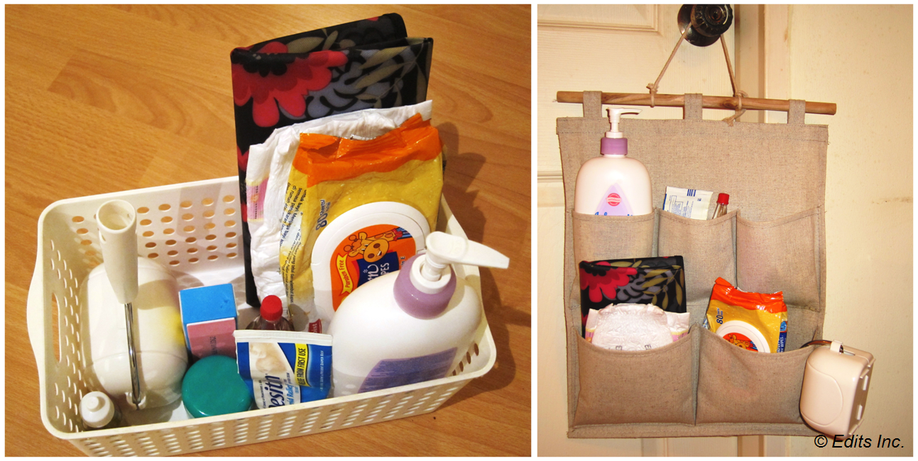 Options for organizing your diaper changing kit