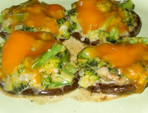 Broccoli and Cheddar-Stuffed Mushroom Caps